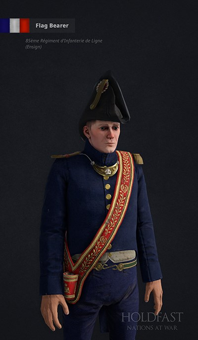 Holdfast NaW - French Flag Bearer (85ème Régiment d'Infanterie de Ligne - Ensign)